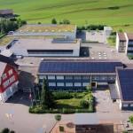 Drohnenfoto Solaranlage TraktB, Schulhaus Ebnet Andwil