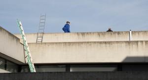 Besichtigung der Anlage auf dem Dach